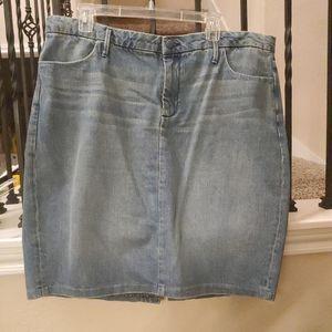 Gap WOMENS 18 Blue Denim Skirt